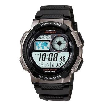 Casio นาฬิกาข้อมือผู้ชาย ดิจิตอล สายเรซิน รุ่น AE-1000W-1BVDF (ดำ)
