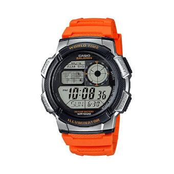 Casio นาฬิกาข้อมือผู้ชาย - รุ่น AE-1000W-4BVDF ส้ม (Orange)