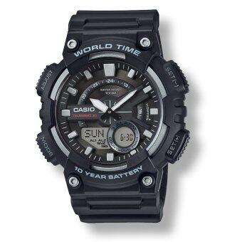 Casio AEQ-110W-1A ของแท้ รับประกันศูนย์ 1 ปี นาฬิกาผู้ชาย สายเรซิ่น