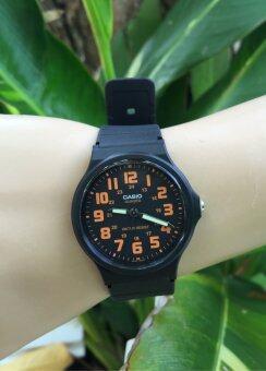 Casio Analog Resin Strap Watch MQ-71-4B Black/Orange