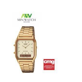 Casio นาฬิกาข้อมือผู้ชาย รุ่น AQ-230GA-9D- Gold