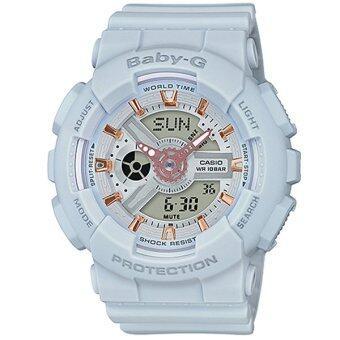 เปรียบเทียบราคา Casio Baby-G นาฬิกาข้อมือผู้หญิง สายเรซิ่น รุ่น BA-110GA-8A - สีเทา