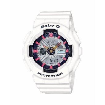 ซื้อ/ขาย Casio Baby-G นาฬิกาข้อมือผู้หญิง สายเรซิ่น รุ่น BA-110SN-7A - สีขาว