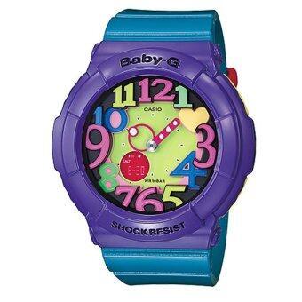 รีวิวพันทิป Casio Baby-G นาฬิกาข้อมือผู้หญิง สีม่วง/เขียว สายเรซิ่น รุ่น BGA-131-6BDR