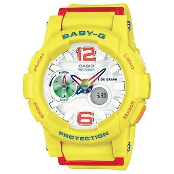 ซื้อ/ขาย casio Baby-G นาฬิกาข้อมือผู้หญิง สีเหลือง สายเรซิ่น รุ่น BGA-180-9B