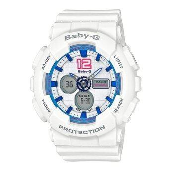 Casio Baby-G นาฬิกาข้อมือผู้หญิงWhite Resin Strap รุ่น BA-120-7BDR