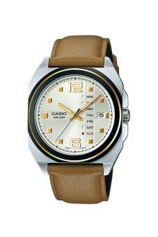 Casio นาฬิกาข้อมือ Casio Analog Men รุ่น MTF-117BL-9AV - Brown ...