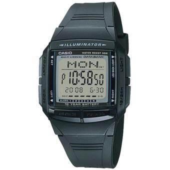 CASIO Data Bank นาฬิกาข้อมือ สีดำ สายรซิน รุ่น DB-36-1AVDF