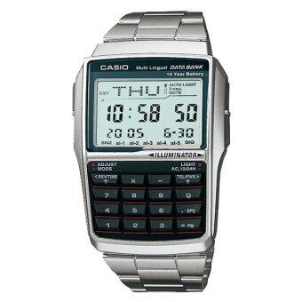 Casio Data Bank นาฬิกาข้อมือ รุ่น DBC-32D-1 - สีเงิน