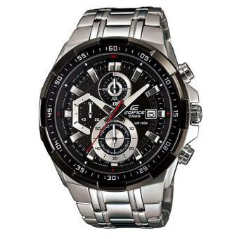 ราคา Casio Edifice chronograph นาฬิกาข้อมือผู้ชาย สีเงิน สายสแตนเลสสตีล รุ่น EFR-539D-1AVUDF