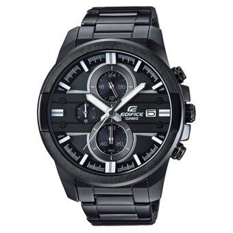 ประเทศไทย Casio Edifice นาฬิกาข้อมือผู้ชาย โครโนกราฟ สายแสตนเลสรมดำ รุ่น EFR-543BK-1A8