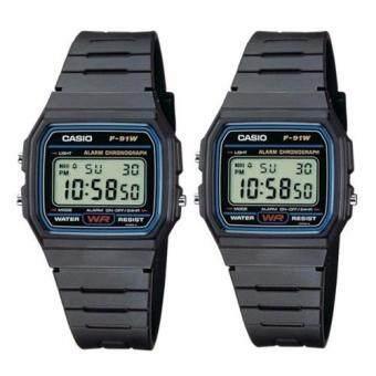 Casio นาฬิกาข้อมือ - F-91WG-1D 1 แถม 1