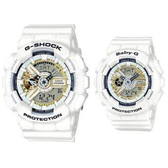 ซื้อ/ขาย Casio G-shock and Casio Baby-G นาฬิกาข้อมือผู้ชาย,ผู้หญิง สายเรซิ่น รุ่น LOV-16A-7A G-SHOCK x Baby-G LIMITED EDITION PAIR MODEL - สีขาว(White)