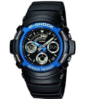 Casio G-Shock นาฬิกาข้อมือผู้ชาย รุ่น AW-591-2 ADR (สีดำ/น้ำเงิน)