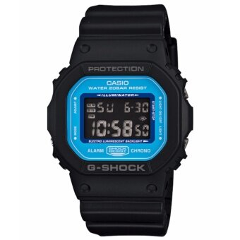 ซื้อ/ขาย Casio G-Shock นาฬิกาข้อมือผู้ชาย รุ่น DW-5600SN-1 - Black/Blue รับประกัน 1 ปี ของแท้