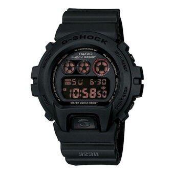 Casio G-Shock ผู้ชายสีดำยางรัดนาฬิกา DW-6900MS-1