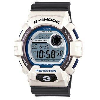 ราคา Casio G-Shock นาฬิกาข้อมือผู้ชาย สีขาว/เทา สายเรซิน รุ่น G-8900SC-7