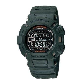 Casio G shock นาฬิกาข้อมือ สีเขียว สายเรซิ่น รุ่น G 9000 3VDR