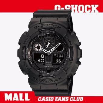 Casio G-Shock นาฬิกาข้อมือผู้ชาย สายเรซิ่น รุ่น GA-100-1A1/GA-120-1ADR - สีดำ