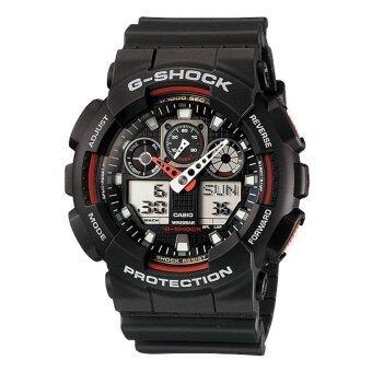 Casio G-Shock นาฬิกาข้อมือ รุ่น Ga-100-1A4Dr (สีดำ/แดง)