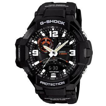 Casio G-Shock นาฬิกาข้อมือผู้ชาย สายเรซิ่น รุ่น GA-1000-1A - สีดำ