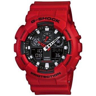 Casio G-SHOCK รุ่น GA-100B-4 (สีแดง)