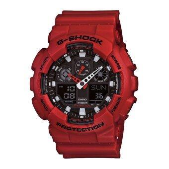Casio G-Shock นาฬิกาข้อมือผู้ชาย รุ่น Ga-100B-4Adr (Red)
