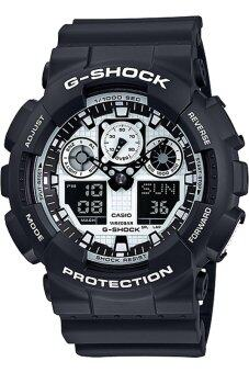 Casio G-Shock GA-100BW-1A Black