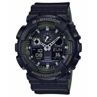 Casio G-Shock นาฬิกาข้อมือผู้ชาย รุ่น GA-100L-1ADR (สีดำ)