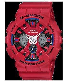 2561 CASIO G-SHOCK นาฬิกาข้อมือผู้ชาย สายยางเรซิ่นแดง รุ่น GA-120TR-4ADR Limited Edition
