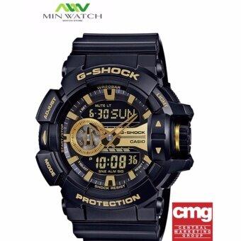 Casio G-Shock นาฬิกาข้อมือผู้ชาย สายเรซิ่น รุ่น GA-400GB-1A9 - สีดำ (ประกันศูนย์เซ็นทรัลCMG1ปี)