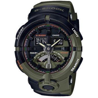 ราคา Casio G-Shock นาฬิกาข้อมือผู้ชาย สายเรซิ่น รุ่น GA-500K-3A - สีเขียว/ดำ