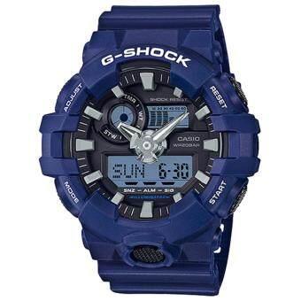 2561 Casio G-Shock นาฬิกาข้อมือผู้ชาย สายเรซิ่น รุ่น GA-700-2A - สีน้ำเงิน