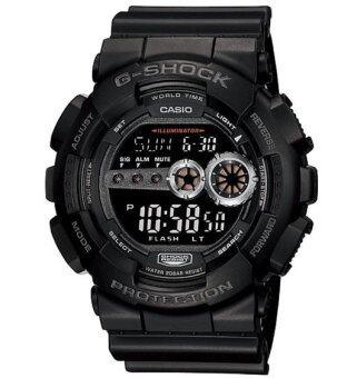 Casio G-shock นาฬิกาข้อมือผู้ชาย สีดำ สายเรซิ่น รุ่น GD-100-1BDR