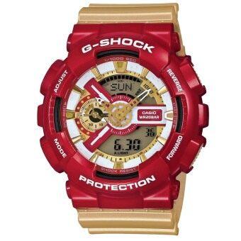 Casio G-Shock Men's Resin Strap Watch GA-110CS-4ADR Gold