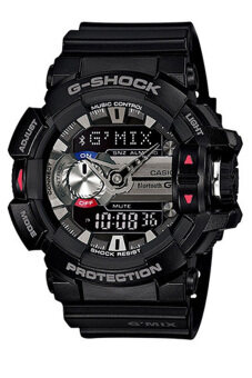 Casio G-Shock Men's Black Resin Strap Watch GBA-400-1A