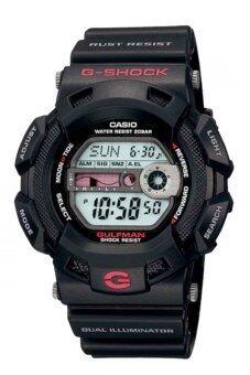2561 CASIO G-SHOCK นาฬิกาข้อมือสำหรับผู้ชาย สไตล์สปอร์ต สีดำ Resin Strap รุ่น G-9100-1DR - GulfMan