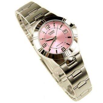 CASIO นาฬิกา Lady LTP-1241D-4ADF- สีเงิน/ชมพู