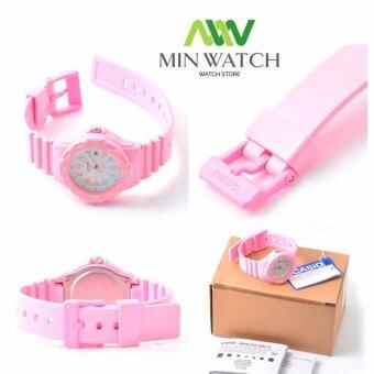 Casio นาฬิกาข้อมือ ผู้หญิง สายเรซิน สีชมพู รุ่น LRW-200H-4B2( Pink)