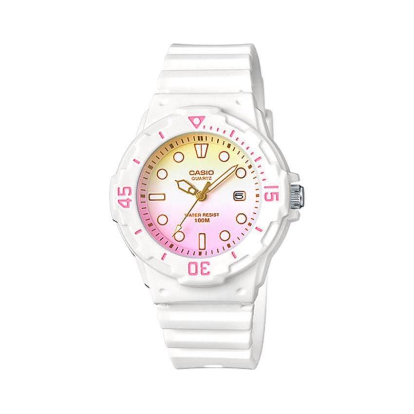 Casioนาฬิกาผู้หญิง สายเรซิ่น รุ่นLRW-200H-4E2V(White)