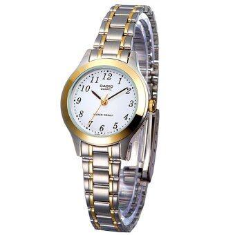 Casio นาฬิกาข้อมือผู้หญิง สายสแตนเลส สีเงิน รุ่น LTP-1128G-7B ( Silver )