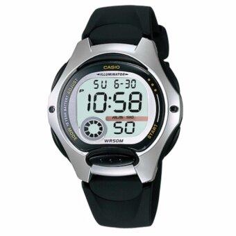 Casio นาฬิกาข้อมือ สายเรซิ่น รุ่น LW-200-1A - Silver/Black รับประกันศูนย์ 1 ปี ของแท้