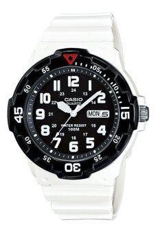 Casio นาฬิกาข้อมือผู้ชาย สีขาว สายเรซิ่น รุ่น MRW-200HC-7BVDF