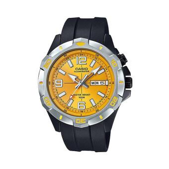 Casio นาฬิกาข้อมือผู้ชาย รุ่น MTD-1082-9AVDF (สีดำ/เหลือง)