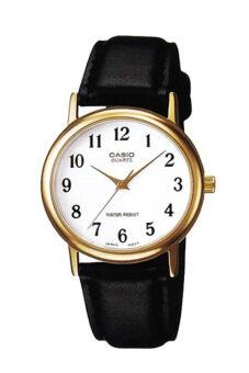 Casio นาฬิกาข้อมือผู้ชาย สายหนัง รุ่น MTP-1095Q-7B-Black/White