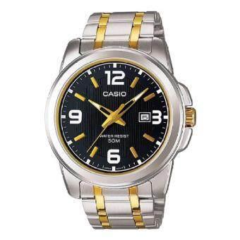 Casio นาฬิกาข้อมือผู้ชาย สายสแตนเลส รุ่น MTP-1314SG-1A - Silver/Gold รับประกันศูนย์ 1 ปี ของแท้