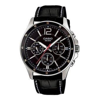 CASIO นาฬิกาข้อมือ ผู้ชาย สายหนัง รุ่น MTP-1374L-1A