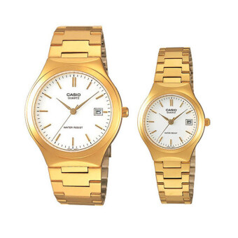 Casio SET คู่รัก นาฬิกาข้อมือชาย/หญิง รุ่น MTP-1170N-7 และ LTP-1170N-7 - Gold