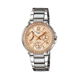 Casio Sheen Chronograph นาฬิกาข้อมือ รุ่น SHE-3008BSG-7A (Silver)