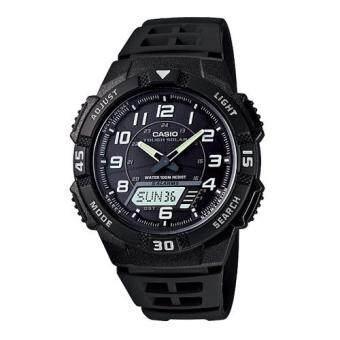 ประเทศไทย Casio นาฬิกา SOLAR POWER SPORT สีดำ สายเรซิ่น รุ่น AQ-S800W-1BVDF